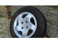 """Peugeot 306 15"""" Alloy Wheel and Unused Michelin Tyre"""