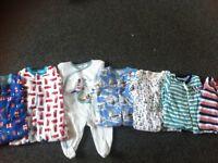 8 newborn sleepsuits - boys