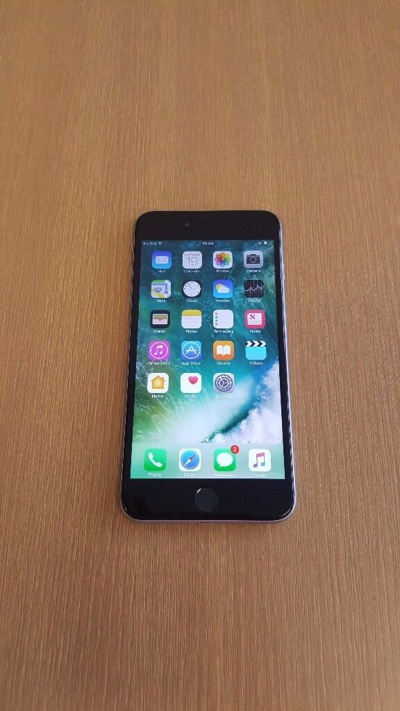 iPhone 6 plus (A4in Stoke on Trent, StaffordshireGumtree - iPhone 6 plus black/gray colour 16GB locked on vodafone come with USB cable & charger and 6 month shop warranty please dont call after 7 pm