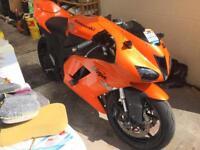 Kawasaki zx6r 2007 wildfire orange - damaged/track