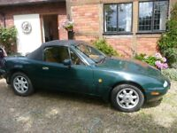 Mazda MX5 (Eunos) Roadster soft top. Excellent original condition and low mileage for age.