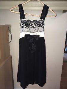Black and white girls size 14 dress