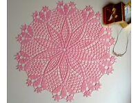 Handmade crochet napkin