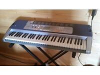 Casio key lighting keyboard with stand