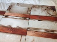 Lovely browns/creams canvas type picture . New & boxed .£30