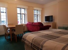 Very large furnished bedsit room to let in the centre of Faringdon. Recently decorated. Light & Airy
