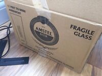 Amstel Beer | Pint Glass x 15 JOB LOT | £1 per glass *NEW*