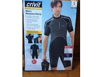 REDUCED FOR QUICK SALE Brand new Mens 3 mm Neoprene Shorty Wet suit SIZE LARGE