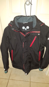McKinley Black Waterproof Jacket - Medium