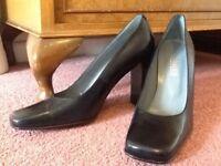 Blue court shoes