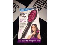 Hair straightening brush jml