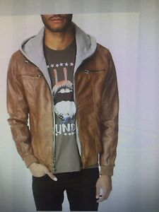 Size large faux leather jacket