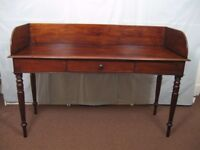 Large Antique Victorian Galleried Mahogany Washstand Serving Table Great Colour