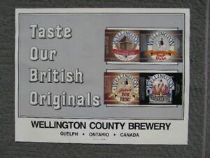Wellington County Brewery Poster 1981