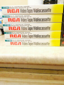 Brand New High Quality VHS (VIDEO) Cassettes RCA