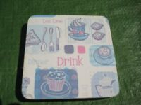 Two Sets of Square Coasters Each with Four Coasters - £2.00 each or 3 for £3.00