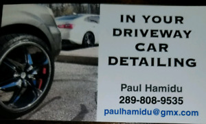 In your driveway car detailing