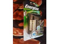 Energizer Intelligent Pro and Fast AA and AAA Battery Charger supplied with 4 x AA 2000mAh Batteries