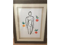 Framed Top Quality Print of Henry Matisse 'Woman'