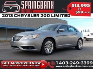2013 Chrysler 200 Limited w/Leather, Sunroof $69B/W INSTANT APPR