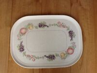 Vintage Boots Melamine Orchard Pattern Tray