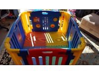 MCC Large Foldable Plastic Baby Playpen Indoor & Outdoor with Mats