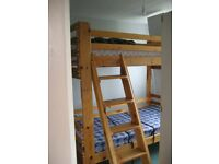 Pine Bunkbeds in very good condition with 2 mattresses, little used.