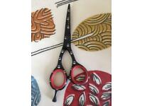 Hairdressing scissors- bought never used- excellent condition - bought from salon services