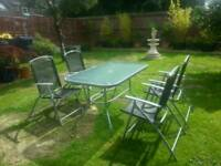 Garden/Patio Glass Table & x4 Chairs