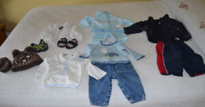 Lot of Boys Baby outfits, size 6 - 9 months
