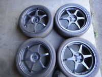 18 inch alloy wheels with 225/40/18 tyres