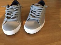 Grey Lacoste Trainers