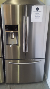 """SAMSUNG FRIDGE 36"""" STAINLESS STEEL FRIDGE WITH WATER AND ICE"""