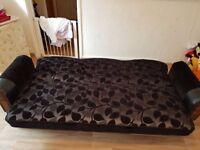Sofa bed 3 sester on black brand new