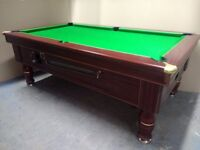 7x4 Ex-Pub Slate Bed Traditional Pool Table - New Recover & Accessories - Free Local Delivery