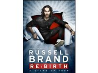 2 Russell brand tickets for the 1st of august at the lowry salford