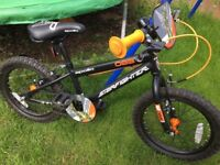 "Apollo Starfighter kids 16"" mountain bike with stabilisers"