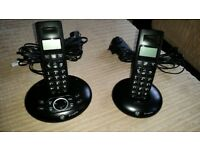 BT Graphite 1500 TWIN Single Line Cordless Phone with Answering Machine.