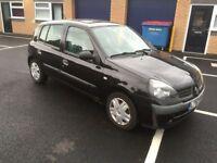 2002 Renault Clio 1.1 auto 5 door 12 months mot/3 months warranty (FREE MOT NEXT YEAR)