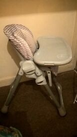 Chicco Polly high chair (dune colour)