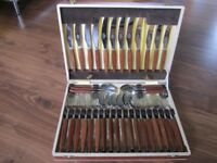 36 piece stainless steel cutlery set canteen (excellent condition)