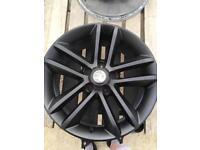 4 x 17in Matt black Vauxhall alloys