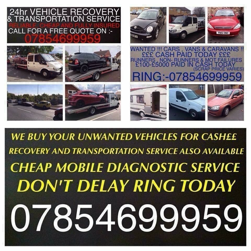 CASH FOR YOUR UNWANTED CARS VANS AND CARAVANS! SCRAP MOT FAILURES ...