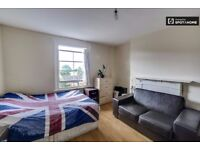 Beautiful huge Double/Twin Bed to rent in a furnished 3-bedroom flat in Shepherds Bush, Zone-2.