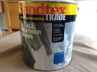 Sandtex 365 All Weather Gloss Paint Corintian Blue 2.5 L New