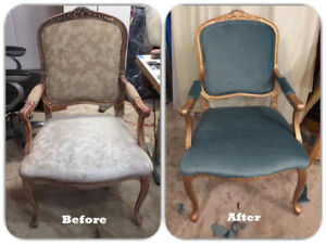 Re-upholstery and  upholstery