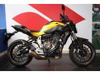 2015 07 YAMAHA MT-07 YELLOW ***PRIVATE PLATE INCLUDED***400 MILES FROM NEW***