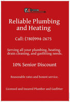 Reliable Plumbing and Heating, discount for seniors.