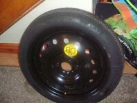 spacesaver wheel+tyre new for nissan note 2008