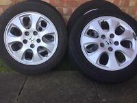 Honda alloys /tyres